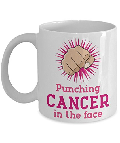 Mug Town - Punching Cancer In The Face - Mug Gifts For Cancer (Cancer Sucks Mug)