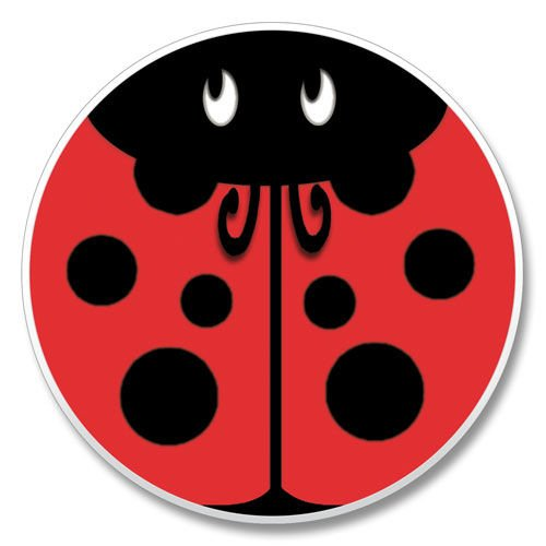 (Red Ladybug - Absorbent Stone Automotive Car Coaster)