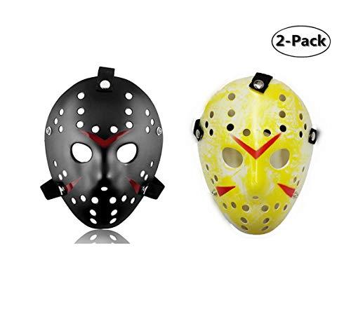 Ru S 2 Pieces Costume Mask Halloween Costume Cosplay Hockey Mask