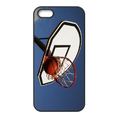 Basketball Ball coque iPhone 4 4S cellulaire cas coque de téléphone cas téléphone cellulaire noir couvercle EEEXLKNBC23363