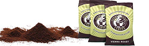 Vienna Roast Ground Pre Measured Coffee Packets, Good As Gold Coffee, (24 / 2.5oz Pre-Measured Coffee Packs) ()