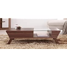 Enitial Lab Eva Coffee Table with Storage, Walnut