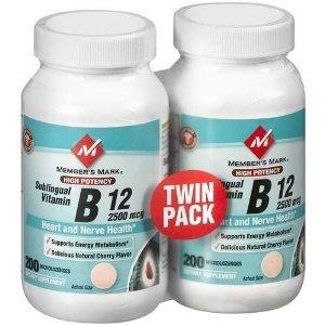 Membre Mark - La vitamine B-12 2500 mcg, Haute Puissance, B12 sublinguale, 400 Microlozenges
