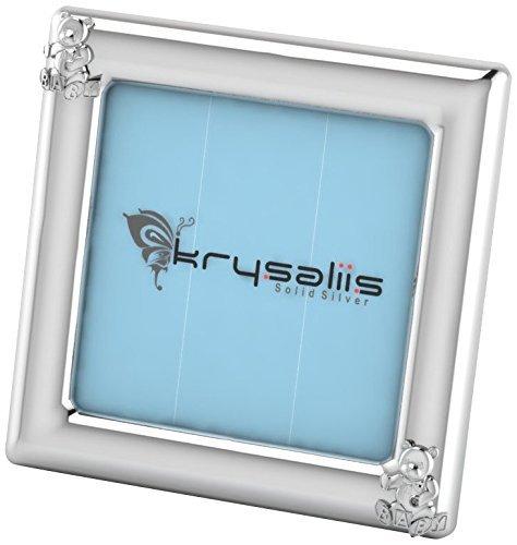 Krysaliis Sterling Silver Teddy Square Frame - Blue Stand [並行輸入品]   B077ZS7NV4