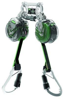 V-TEC Mini PFL, 6' (1.8m), twin-leg, aluminum triple-lock carabiners