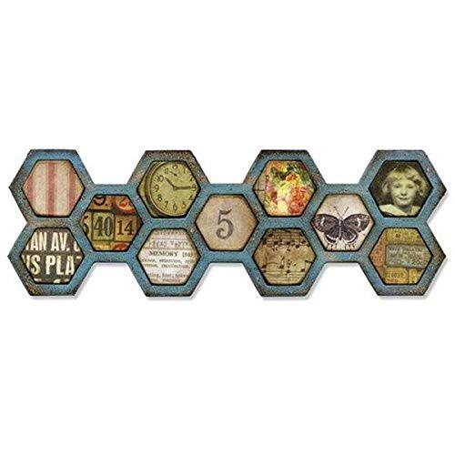 Sizzix Frameworks Border Die by Tim Holtz, Honeycomb