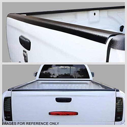 UrMarketOutlet Rear Tailgate Cargo Truck Bed Cap Molding Rail Protector Cover Works with 94-04 Chevy S10//94-04 GMC Sonoma Black//Tape-On