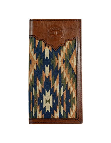 1829137W1 Wallet Leather Canvas Brown Rodeo Hooey Signature Brand Aztec gw4081