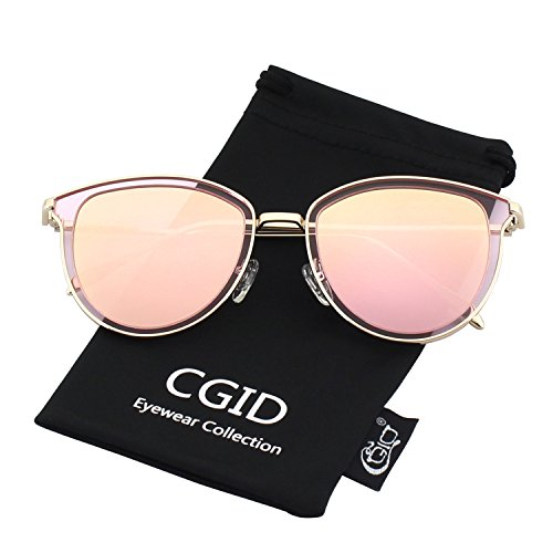 CGID MJ85 Rétro Polarisé Des lunettes de soleil Double Cercle Miroir UV400 Lentille Métal Cadre QdBS7u