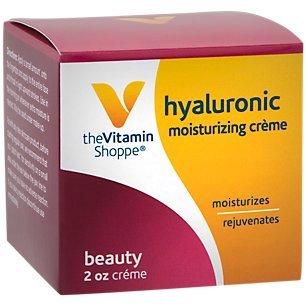 The Vitamin Shoppe Hyaluronic Moisturizing Beauty Crème, Moisturizes and Rejuvenates the Skin (2 Ounces Cream)