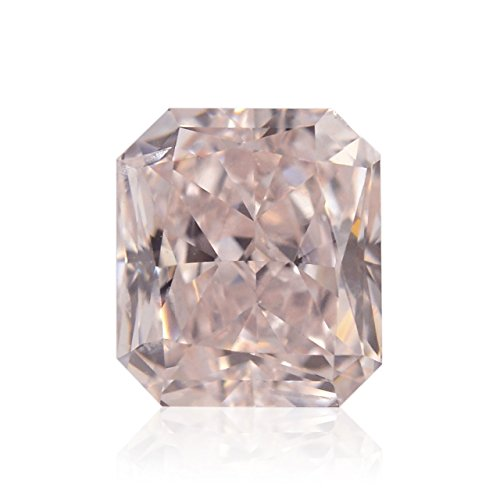 0.84Cts Fancy Light Orangy Pink Loose Diamond Natural Color Radiant Cut GIA (I1 Radiant Loose Diamonds)