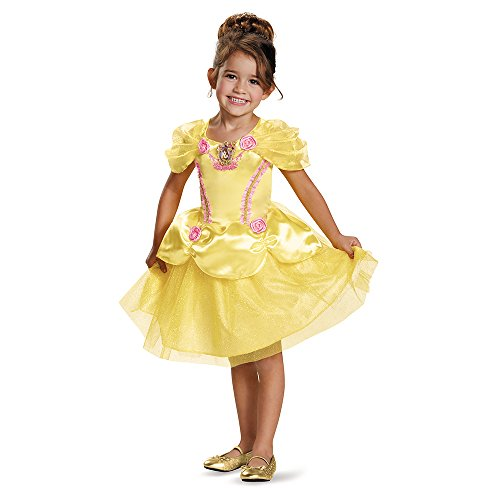 [Disguise 82896S Belle Toddler Classic Costume, Small (2T)] (Belle Halloween Costumes For Women)