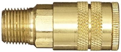 "Dixon Valve DC2103 Brass Air Chief Industrial Interchange Quick-Connect Air Hose Socket, 1/4"" Coupler x 3/8"" NPT Male Thread, 37 CFM Flow Rating"