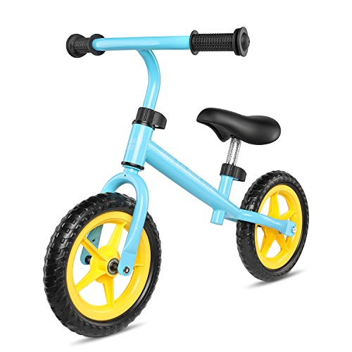 kidsclub Balance Bike, Balancing Bicycle for Kids and Toddler, No Pedal Sports Training Bicycle, Outdoor Sport, Adjustable Handle & Seat, with Tool, Perfect Brithday Gift