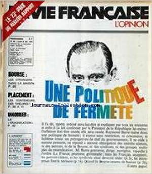 Télécharger Google Books en pdf mac VIE FRANCAISE (LA) [No 49] du 06/12/1976 - LE 23EME PRIX DU MEILLEUR RAPPORT - BOURSE - PLACEMENT - IMMOBILIER - UNE POLITIQUE DE FERMETE. PDB B0047OZSH0