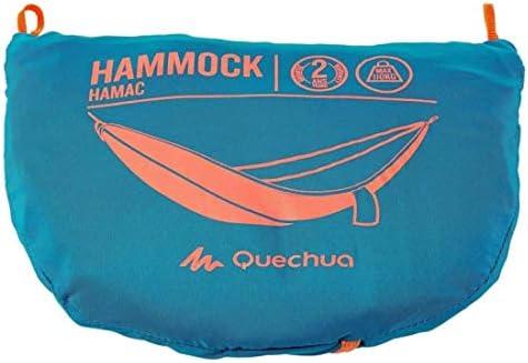 Quechua - Hamaca ultraligera y portátil para 1 persona, con hebillas y cuerdas, color azul