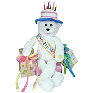 "Chantilly Lane 19"" Birthday Bear Sings ""Happy Birthday"" - 41dW4v8LSbL - Chantilly Lane Animated Birthday Bear"