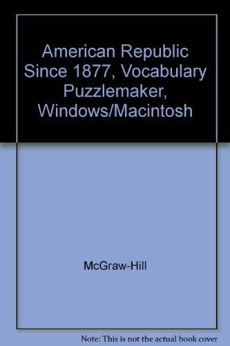 American Republic Since 1877, Vocabulary Puzzlemaker, Windows/Macintosh
