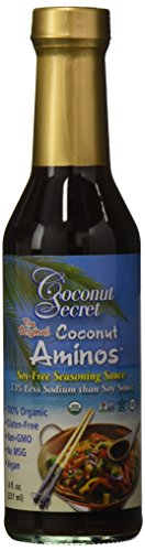 Coconut Secret Organic Raw Coconut Aminos Soy-Free Seasoning Sauce-8 Oz (2-Pack)