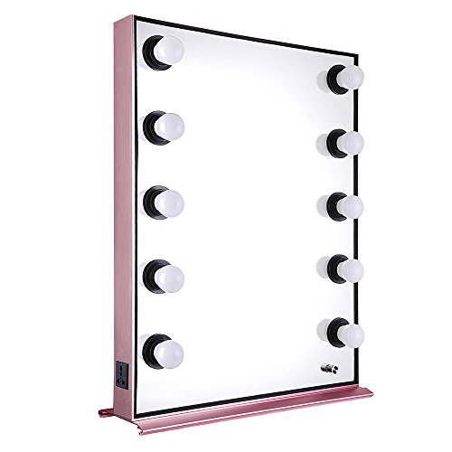 AW 26×20 Hollywood Makeup Vanity Mirror Tabletop 10pcs Dimmer LED Light Hair Beauty Salon Photo Bedroom Home decoration