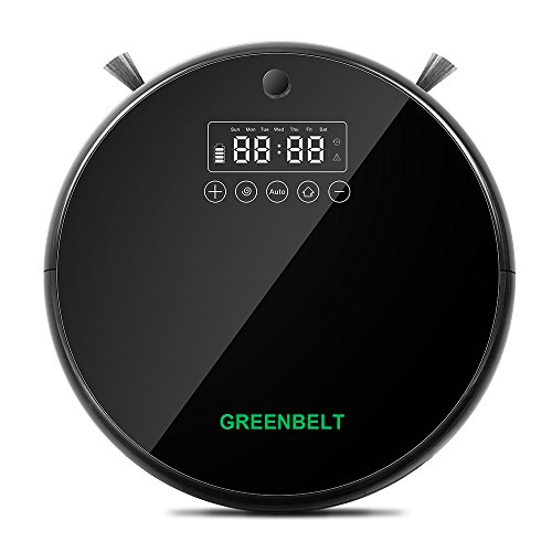 Greenbelt GBVT001 Automatic Robot Vacuum Cleaner with Smartphone App, Smart Infrared Sensors, Multiple Cleaning Modes & Wet Mop, Powerful Suction for Pets, Anti-Collision System, Floating Main Brush