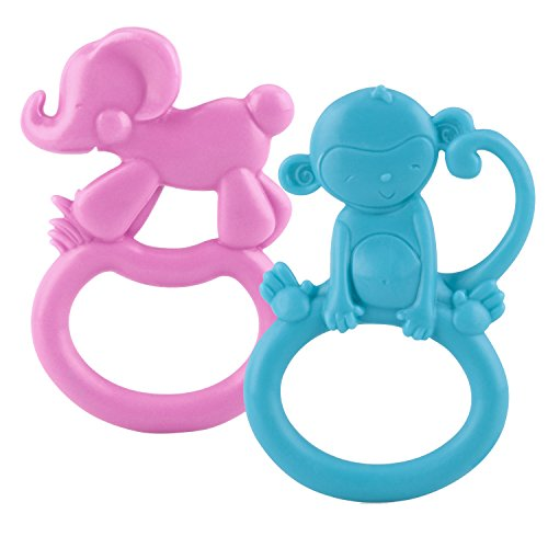 Nuby 2 Pack ZooLoops Teethers Colors