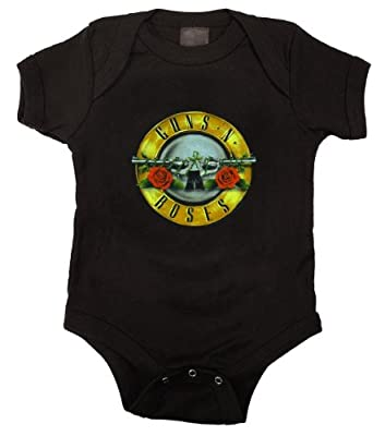 Guns and Roses Bullet Baby Creeper Romper