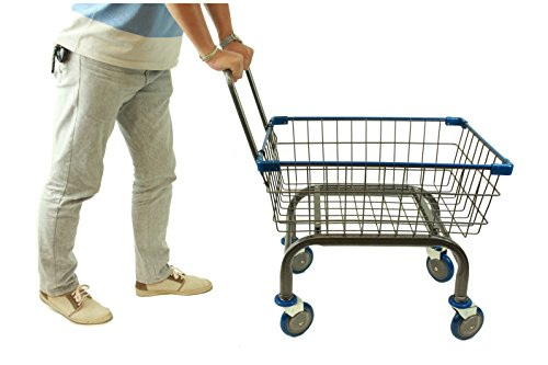 Cart&supply Heavy Duty Household & Commercial Charcoal Grey Cart With U- Handle (BLUE) by CART&SUPPLY
