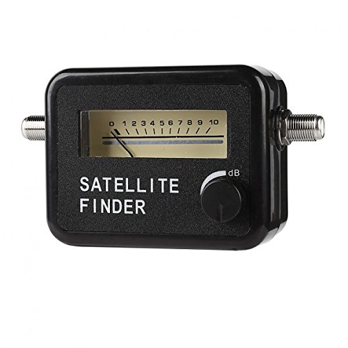 LeaningTech Satellite Finder Signal Satfinder Meter FTA Satellite TV Receiver Tool For Sat Directv Dish Network Black