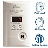Nighthawk AC Plug-in Operated Carbon Monoxide Alarm with Digital Display  KN-COPP-3, White