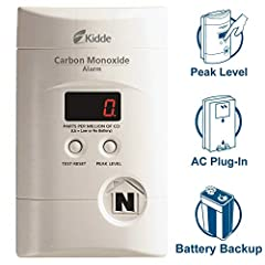 Plug-In Carbon Monoxide Alarm with Battery BackupProtect your family from the dangers of carbon monoxide (CO) exposure with the Kidde KN-COPP-3 Nighthawk Plug-In Carbon Monoxide Alarm with Battery Backup and Digital Display. The Nighthawk is ...