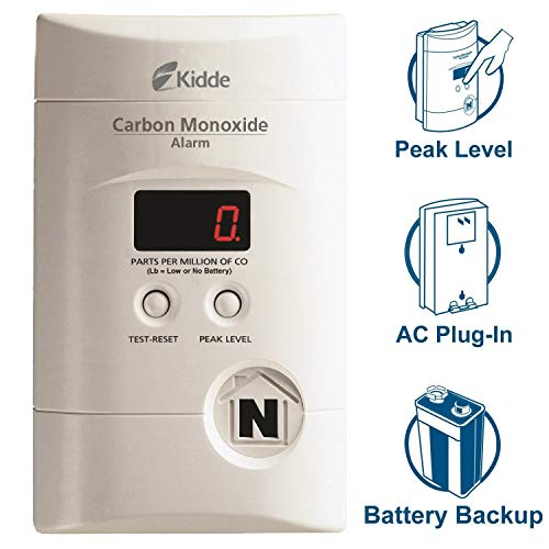Kidde Nighthawk Plug-in AC/DC Carbon Monoxide Alarm Detector with Digital Display KN-COPP-3