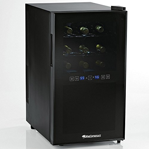 Wine Enthusiast Silent 18 Bottle Two-Temp Touchscreen Wine Refrigerator Review