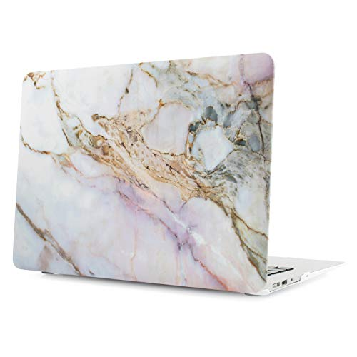 Digi-Tatoo Rubberized Hard Case, Designed for Apple Macbook, Smooth Texture, Ductile and Sturdy Protection - Air 13 (Model: A1369/A1466), Cracked Marble