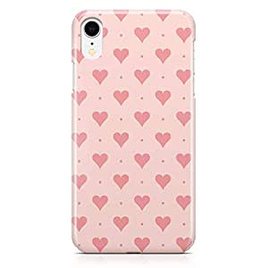Loud Universe Case for iPhone XR Wrap Around Edges Pink Love Heart Polka Dot Pattern Durable Modern Printed Edge New iiPhone XR Cover