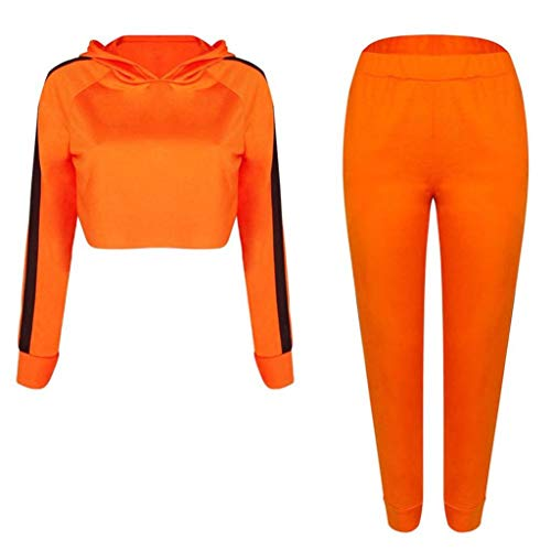 Fleece Lightweight Rei Pants (URIBAKE Womens Sport Hoodies Sweatshirt Crop Tops Pants Set 2Pcs Tracksuit Sweat Suit)