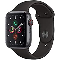 Apple Watch Series 5 44mm Aluminum Case Smart Watch (Space Gray / Black)