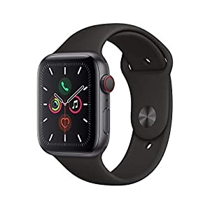 Apple Watch Series 5 (GPS+Cellular, 44mm) – Space Gray Aluminium Case with Black Sport Band