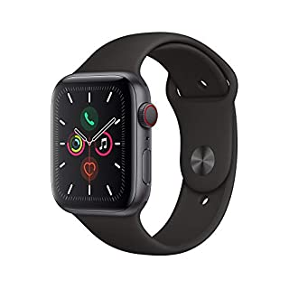 41dW85N4iXL. SS320 Apple Watch Series 5 (GPS + Cellular, 44mm) - Space Gray Aluminium Case with Black Sport Band