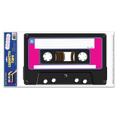 1980 Themed Costumes (Cassette Peel 'N Place Party Accessory (1 count) (1/Sh))