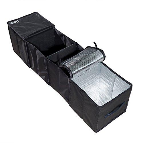 Deler Faltbare 4-Fach Kofferraumtaschen mit Kühlung und Isolierung für Auto, SUV, Minivan und LKW, Robust und flexibel (45,2