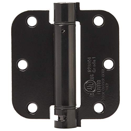 - AmazonBasics Self-Closing Door Hinge, 3.5 Inch x 3.5 Inch, 1 Piece, Matte Black