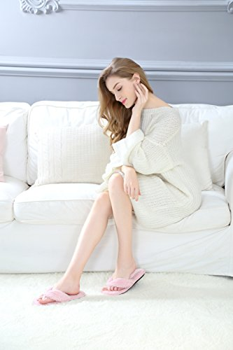 Onmygogo - Zapatillas de estar por casa para mujer, color rojo, talla 39 EU