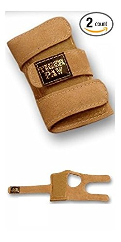 Tiger Paws Gymnastics Wrist Support Wraps | Comfortable & Low Profile Tan Suede Injury Prevention | Featuring Adjustable Inserts (medium (115 lbs - 150 lbs)) - Wife Supports