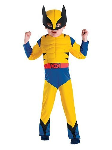 Toddler Wolverine Muscle Costumes (Wolverine Muscle Costume - Toddler Medium by Disguise)