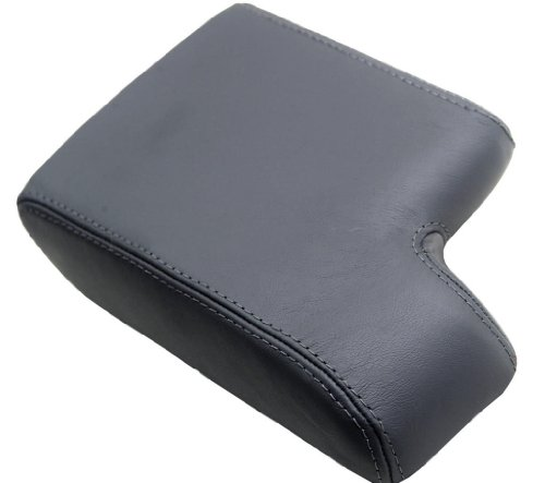 (Fits 1992-1999 BMW E36 Synthetic Leather Black Console Lid Armrest Cover (Synthetic Part Only))