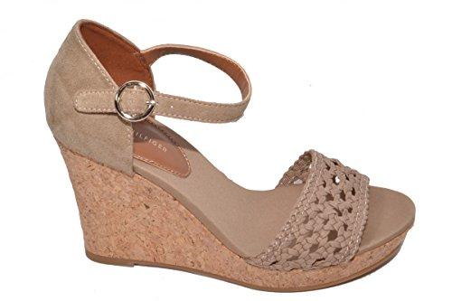 Tommy Hilfiger Damen Int E1285del 5c Knöchelriemchen Sandale in Beige