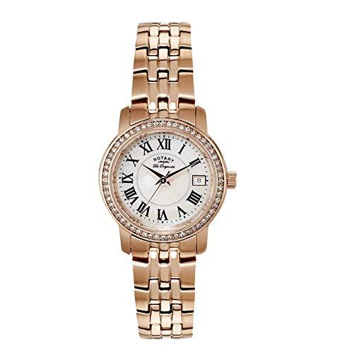 Rotary Les Originales LB90093/41 - Reloj para mujeres, correa de acero inoxidable chapado color oro rosa: Amazon.es: Relojes