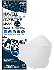 [20 Packs] NAWELL Face Mask 4 Layer Filter Structure Lightweight White Face Mask Made in Korea [20 Individually Packaged ] [English and French Packing]
