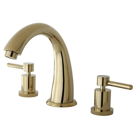Kingston Brass Ks2362dl Concord Two Handle Roman Tub Filler Concord Roman Tub Filler 7 Spout Reach-Polish Brass Finish (Spout Reach)